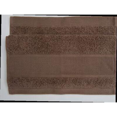 Hímezhető törölköző 50x100 sötét barna