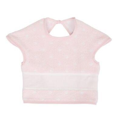 Hímezhető bebújós előke rózsaszín pöttyös