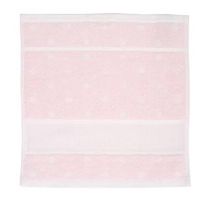 Hímezhető kéztörlő 30x30 rózsaszín pötyös