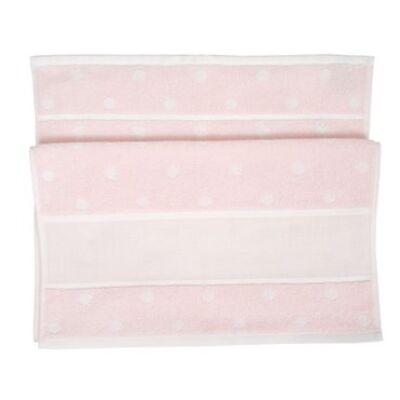 Hímezhető törölköző 70x140 rózsaszín pöttyös-Rico
