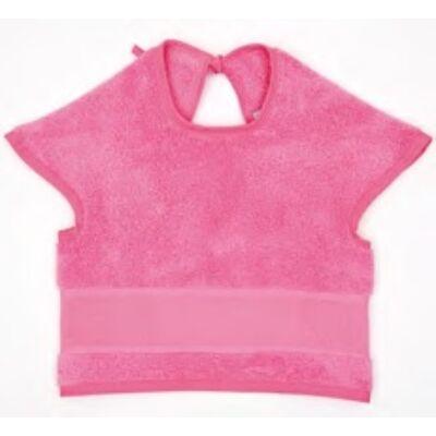 Hímezhető bebújós előke pink színű
