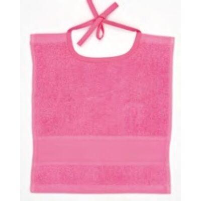 Hímezhető kicsi előke pink színű