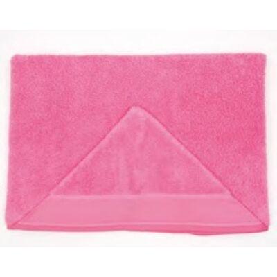 Hímezhető kapucnis törölköző pink színű