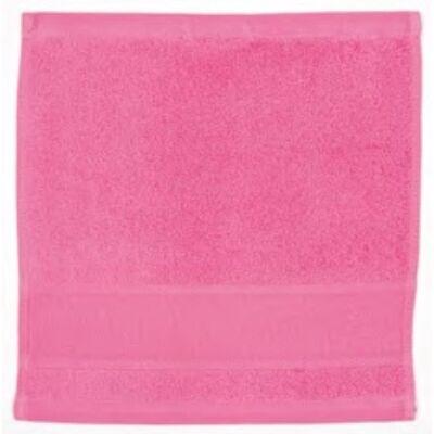 Hímezhető kéztörlő 30x30 pink színű