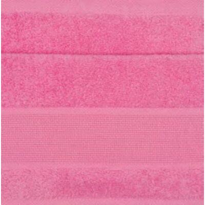 Hímezhető kéztörlő 30x50 pink színű