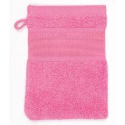 Hímezhető mosakodókesztyű pink színű