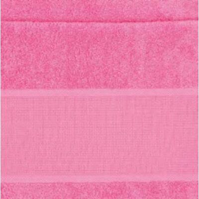 Hímezhető Törölköző 50x100 pink színű