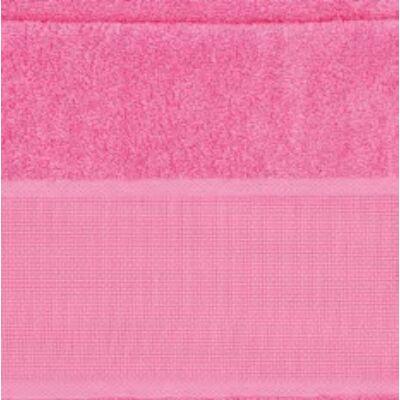 Hímezhető törölköző 70x140 pink színű-Rico