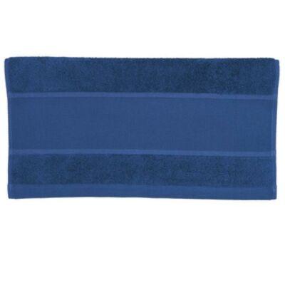 Hímezhető Törölköző 50x100 sötét kék