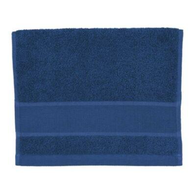 Hímezhető kéztörlő 30x50 sötét kék