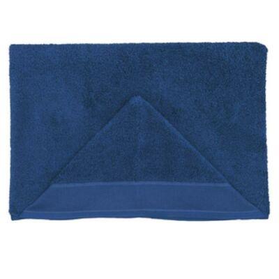 Hímezhető kapucnis törölköző-sötét kék