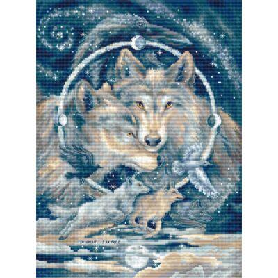Letistitch keresztszemes készlet - Farkasok