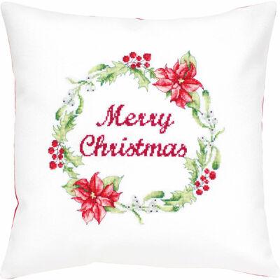 Keresztszemesen hímezhető párna készlet - Merry Christmas