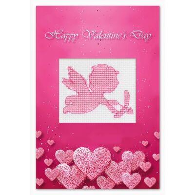 Luka-s keresztszemesen hímezhető képeslap készlet - Boldog Valentin napot