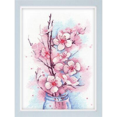 Oven keresztszemes készlet - Alma virága