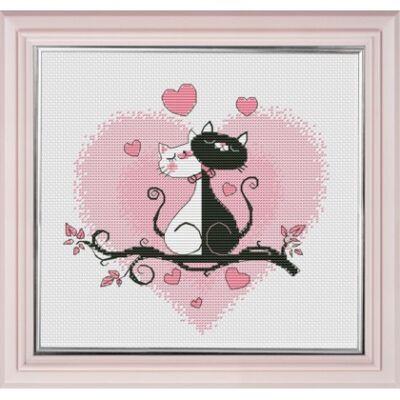 Oven keresztszemes készlet - Cica szerelem
