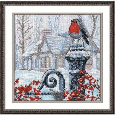 Oven keresztszemes készlet - Reggeli hó