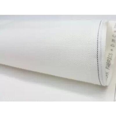 DMC fehér egyenletes szövésű pamut hímzővászon 25ct 156 cm széles
