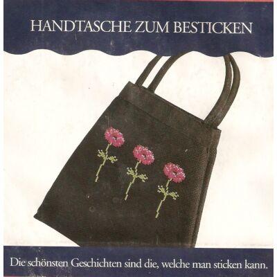 Keresztszemes készlet- Fekete táska
