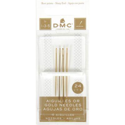 DMC hímzőtű 1-3-5 méret 4 db-os - aranyozott