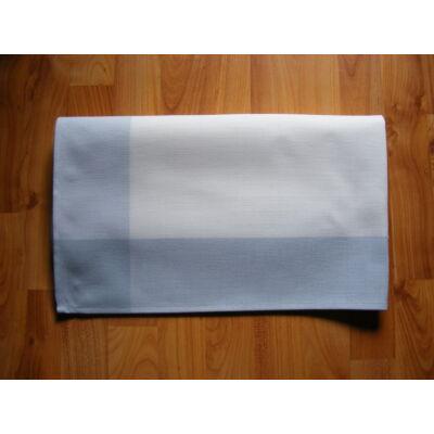 Hímezhető terítő fehér-kék szegéllyel 90x90