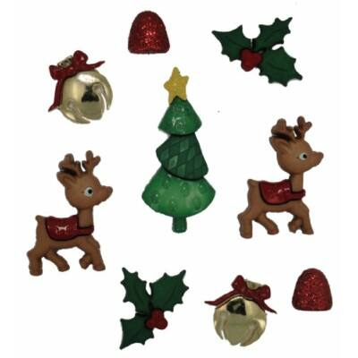 Dress it up- Karácsonyi gombok- Játékos rénszarvasok
