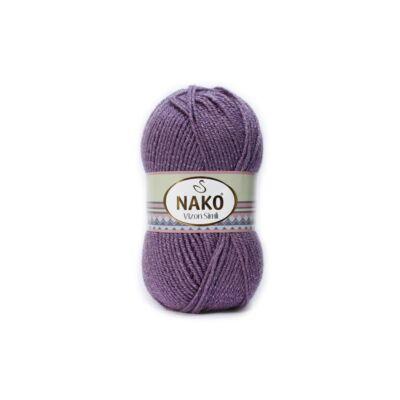 Nako Vizon Simli csillogó fonal lila - 6684