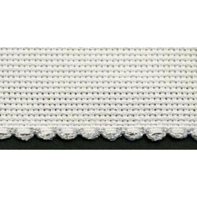 Kongré szalag 10 cm széles-fehér színű-ezüst szegéllyel