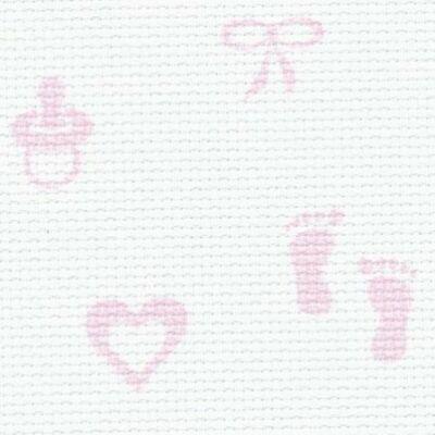 Aida Baby-rózsaszín-14 ct 110 cm széles