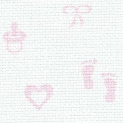 Aida Baby-rózsaszín-14 ct 55 cm széles