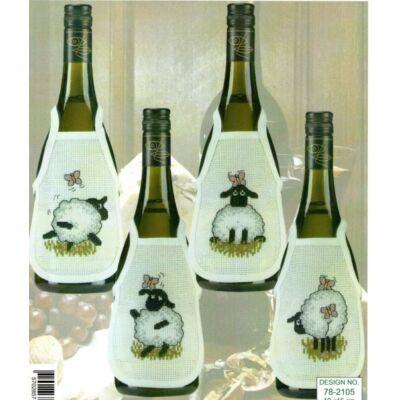 Hímezhető borkötény 16 ct- ecru