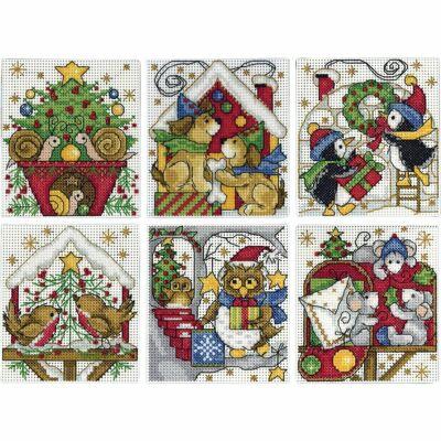 Karácsonyi keresztszemes készlet - Plasztik Kanavára-1697