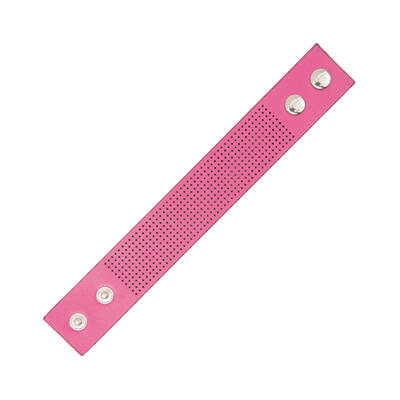 Hímezhető karkötő pink színű