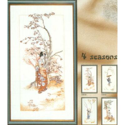 Lanarte keresztszemes készlet - Tavaszi gésa