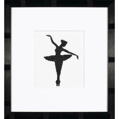 Keresztszemes készlet- Ballet sziluett 1