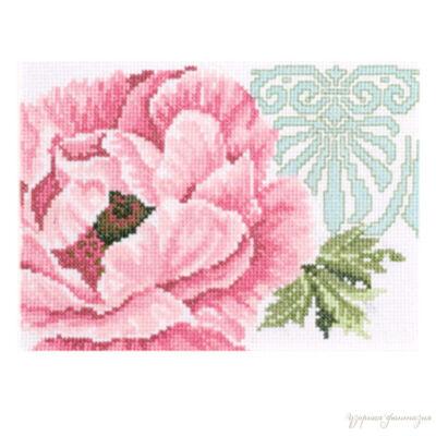 Lanarte keresztszemes készlet - Pink virág
