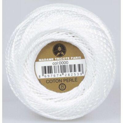 Perlé hímző gyöngyfonal 0000 - tört fehér