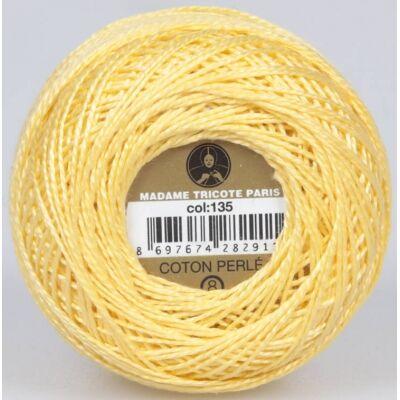 Perlé hímző gyöngyfonal 135 - sárga