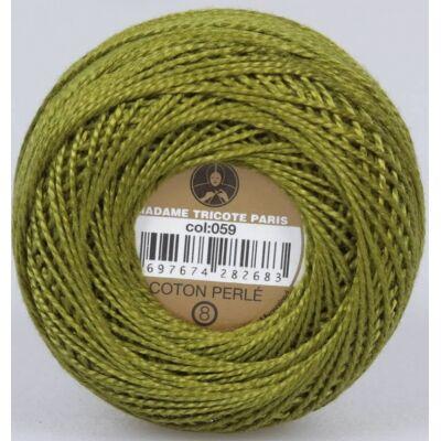 Perlé hímző gyöngyfonal 059 - keki zöld