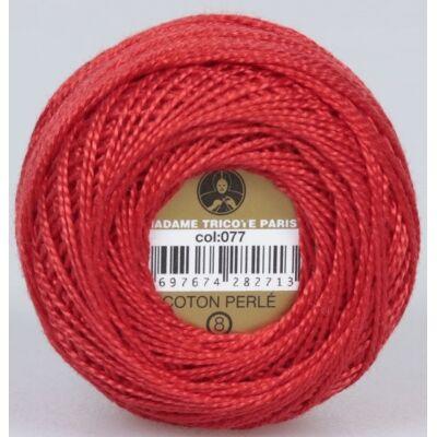 Perlé hímző gyöngyfonal 077 - piros