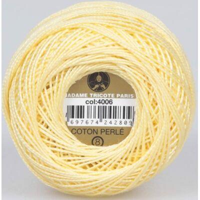 Perlé hímző gyöngyfonal 4006 - sárga