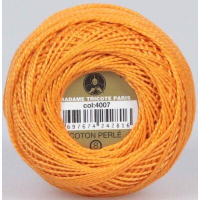 Perlé hímző gyöngyfonal 4007 - narancs sárga