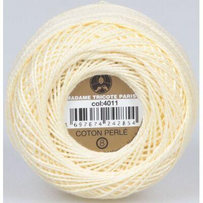 Perlé hímző gyöngyfonal 4011 - vanília