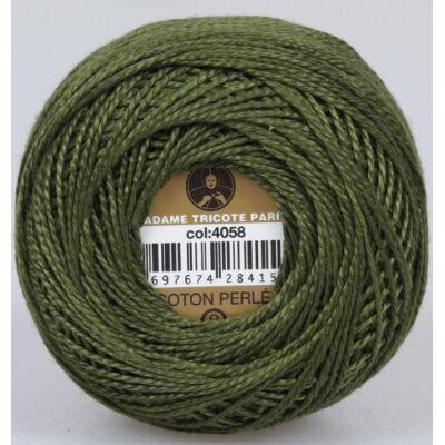 Perlé hímző gyöngyfonal 4058 zöld
