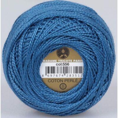 Perlé hímző gyöngyfonal 556 - kék