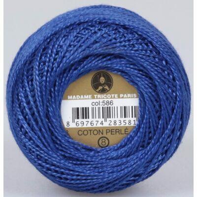 Perlé hímző gyöngyfonal 586 - kék