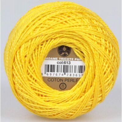Perlé hímző gyöngyfonal 613 - sárga