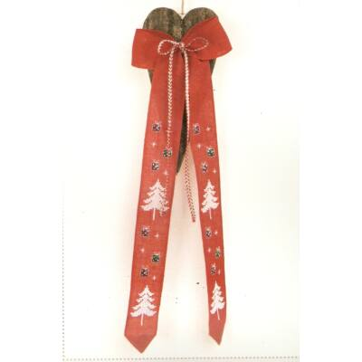Rico keresztszemes készlet-karácsonyi piros szalag