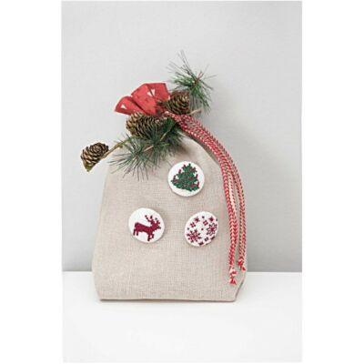 Rico keresztszemes készlet-karácsonyi gombok