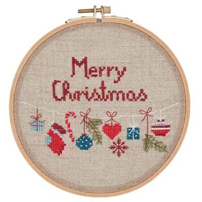 Rico -keresztszemes készlet kör kerettel - Karácsony